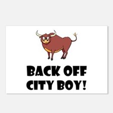 Back Off City Boy Postcards (Package of 8)