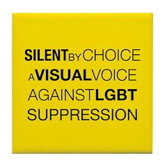 Silent By Choice Tile Coaster