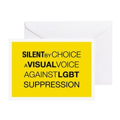 Silent By Choice Greeting Card