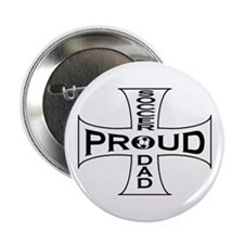 proud soccer dad Button