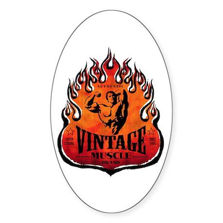 VINTAGE MUSCLE BRAND Oval Sticker