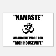 Namaste Rich Housewife Postcards (Package of 8)