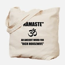 Namaste Rich Housewife Tote Bag