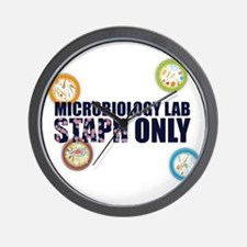 Microbiology Lab Staph Only Wall Clock