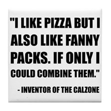 Pizza Fanny Pack Calzone Tile Coaster