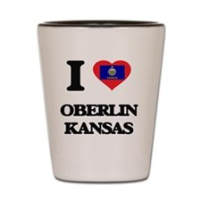 I love Oberlin Kansas Shot Glass