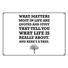 Quotes About Life Tree Banner