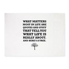 Quotes About Life Tree 5'x7'Area Rug