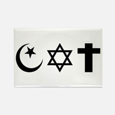 Tri-Faiths Rectangle Magnet
