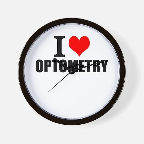I Love Optometry Wall Clock