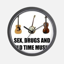 Sex Drugs Old Time Music Wall Clock