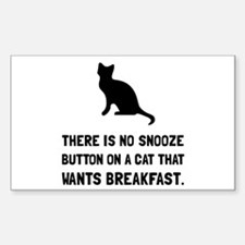 Snooze Button Cat Decal