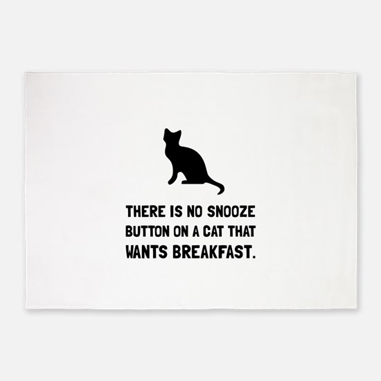 Snooze Button Cat 5'x7'Area Rug
