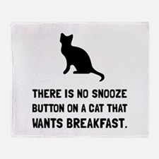 Snooze Button Cat Throw Blanket