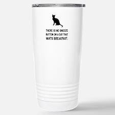 Snooze Button Cat Travel Mug
