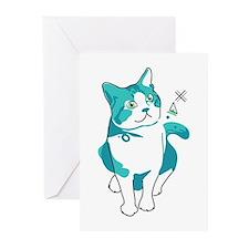 American shorthair cat Greeting Cards