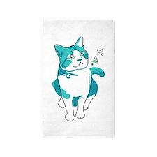 American shorthair cat Area Rug