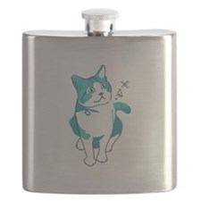 American shorthair cat Flask