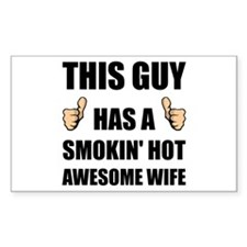 This Guy Awesome Hot Wife Decal