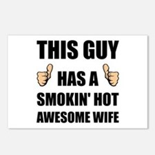This Guy Awesome Hot Wife Postcards (Package of 8)