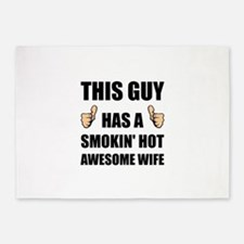 This Guy Awesome Hot Wife 5'x7'Area Rug