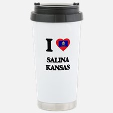 I love Salina Kansas Stainless Steel Travel Mug