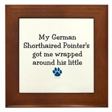 Wrapped Around His Paw (German SH Pointer) Framed