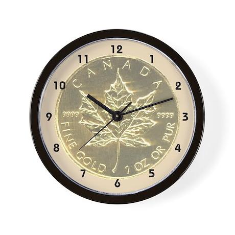 Maple Leaf Coin Wall Clock