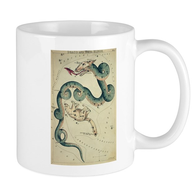 draco dragon old astronomy star chart coffee cup by