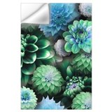 Blue flowers Wall Decals