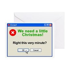 Error Greeting Card