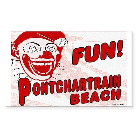 Pontchartrain Beach Rectangle Sticker