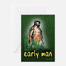 Early Man... Greeting Card