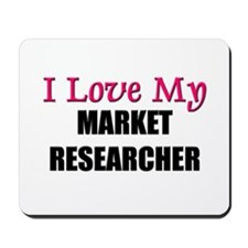 I Love My MARKET RESEARCHER Mousepad