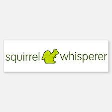 SquirrelWhisperer_green-01 Bumper Bumper Bumper Sticker
