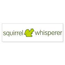 SquirrelWhisperer_green-01 Bumper Bumper Sticker