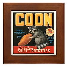Coon Sweet Potatoes Vintage C Framed Tile