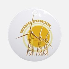 Wind Power Ornament (Round)