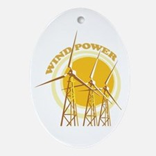Wind Power Ornament (Oval)