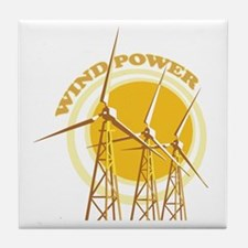 Wind Power Tile Coaster
