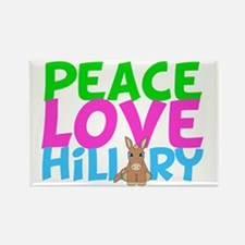 Love Hillary Rectangle Magnet