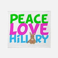 Love Hillary Throw Blanket