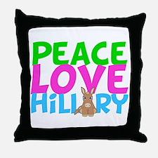 Love Hillary Throw Pillow