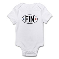 Finland Euro Oval Infant Bodysuit