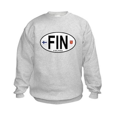 Finland Euro Oval Kids Sweatshirt