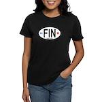 Finland Euro Oval Women's Dark T-Shirt
