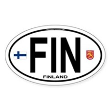 Finland Euro Oval Oval Decal