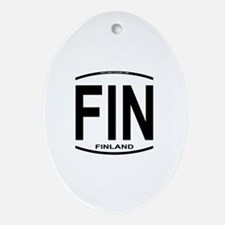Finland Euro Oval Oval Ornament