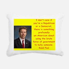 rand paul quote Rectangular Canvas Pillow