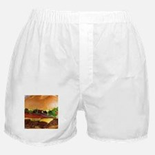 funny cheeseburger Boxer Shorts